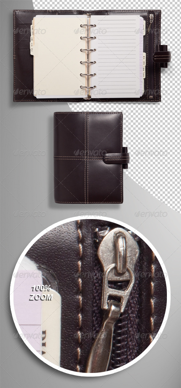 Pocket Organiser Photo-realistic Isolated 2