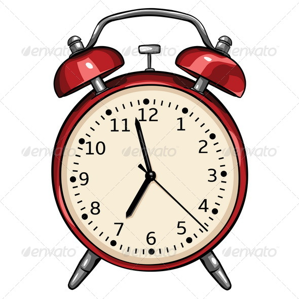 GraphicRiver Vector Red Alarm Clock 5287941