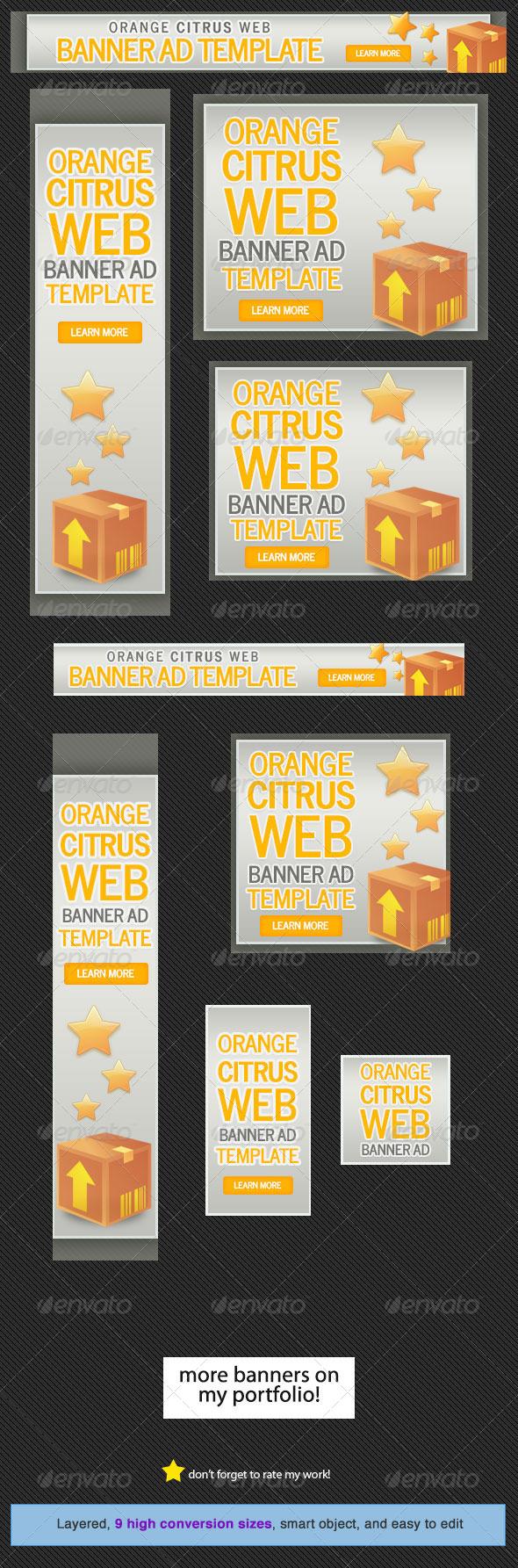 GraphicRiver Orange Citrus Web Banner 5287945