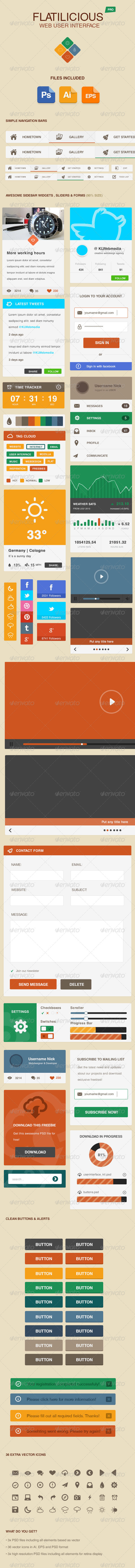 GraphicRiver Flatilicious User Interface 5288035