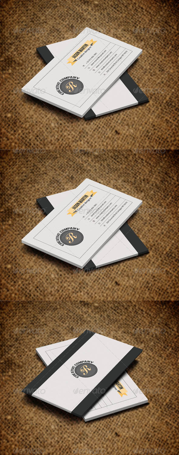 GraphicRiver Simple Retro Style Business Card 5288036