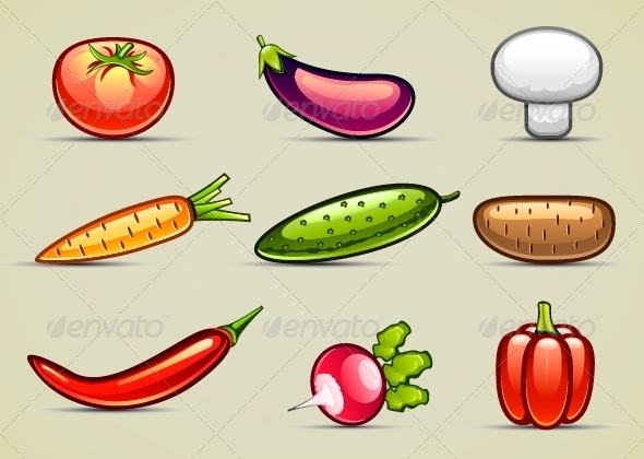 GraphicRiver Vegetables Set 5288236