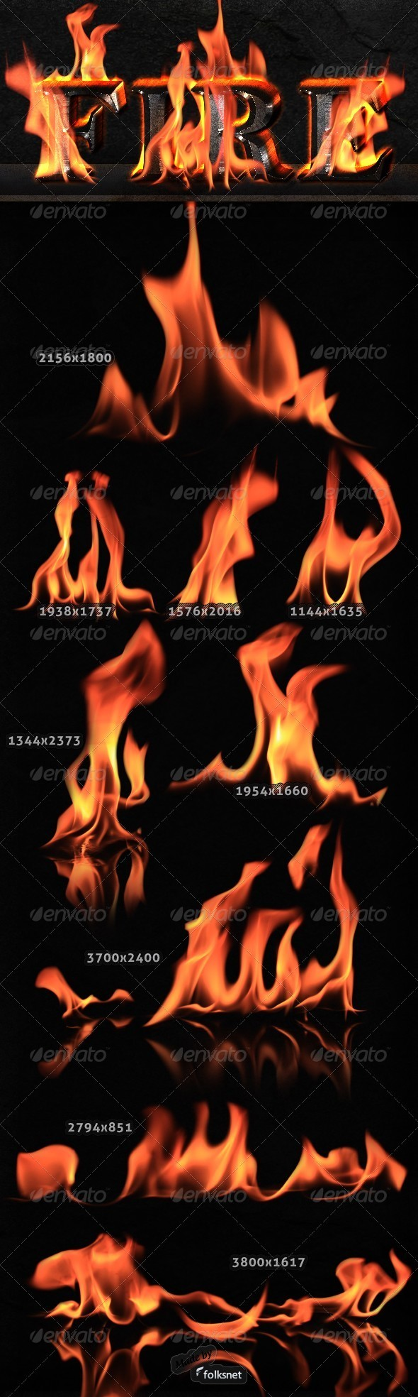 GraphicRiver Isolated Fire 544603