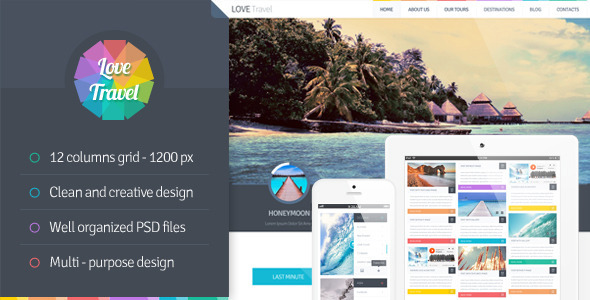 ThemeForest Love Travel Creative Travel Agency Theme 5288503