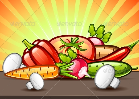 GraphicRiver Vegetables Illustration 5288515