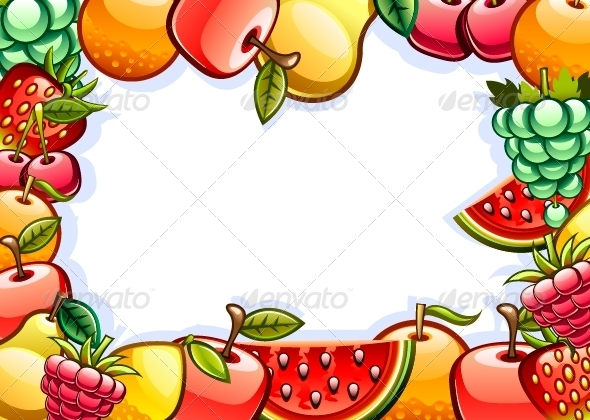 GraphicRiver White Background with Fruits 5288703