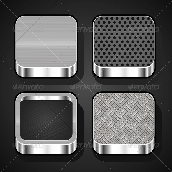 GraphicRiver Set of Metal IOS Icons 5288730