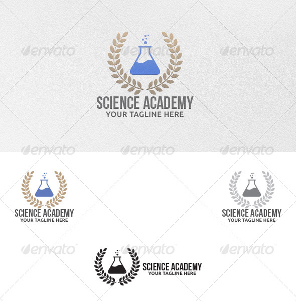 GraphicRiver Science Academy Logo Template 5288742