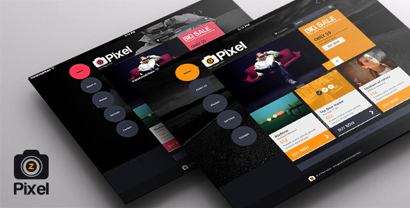Z Pixel – Photo Store PSD Templates – Flat Design