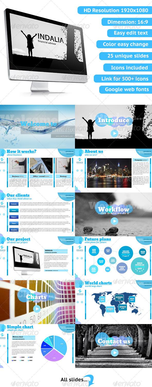 GraphicRiver Indalia Powerpoint Presentation 5280139