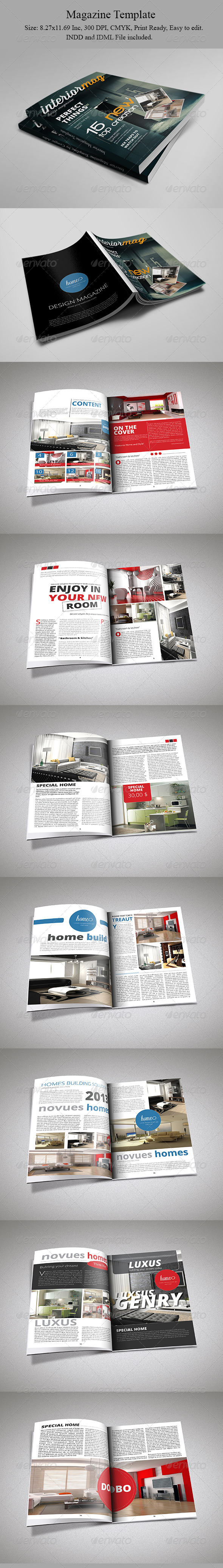 Interior Magazine Template - Magazines Print Templates