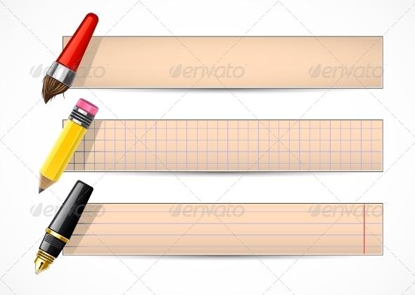 GraphicRiver Retro School Banners 5289327