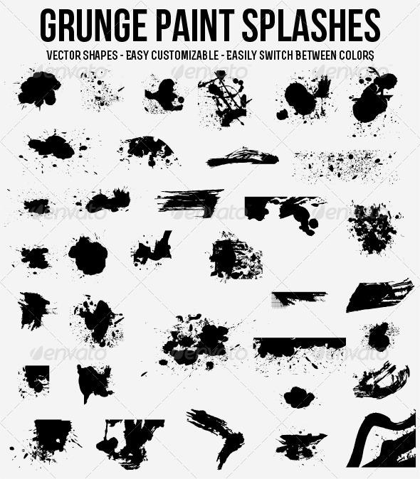 Grunge Paint Brushes - Decorative Symbols Decorative