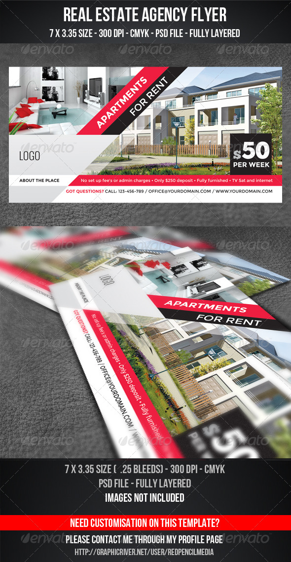 GraphicRiver Real Estate Agency Flyer 5235407