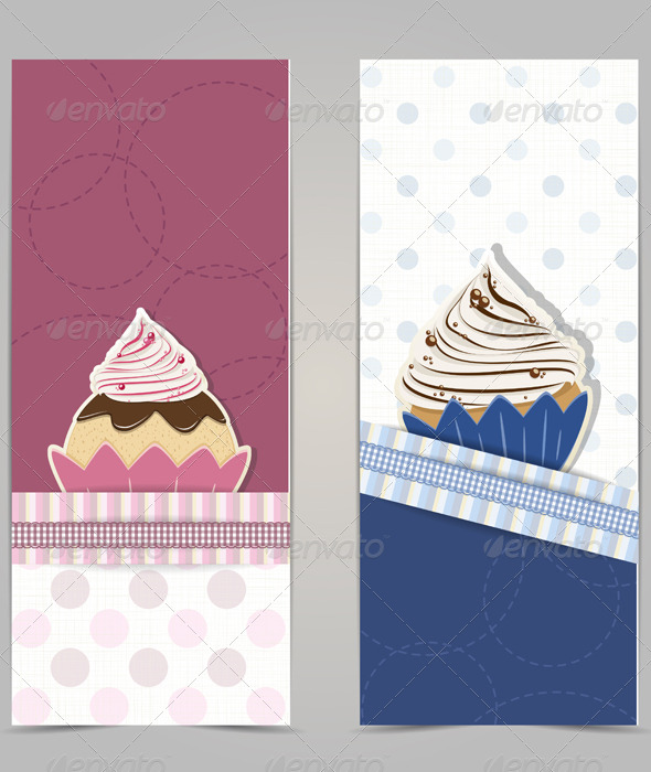 GraphicRiver Cupcake Banners 5290441