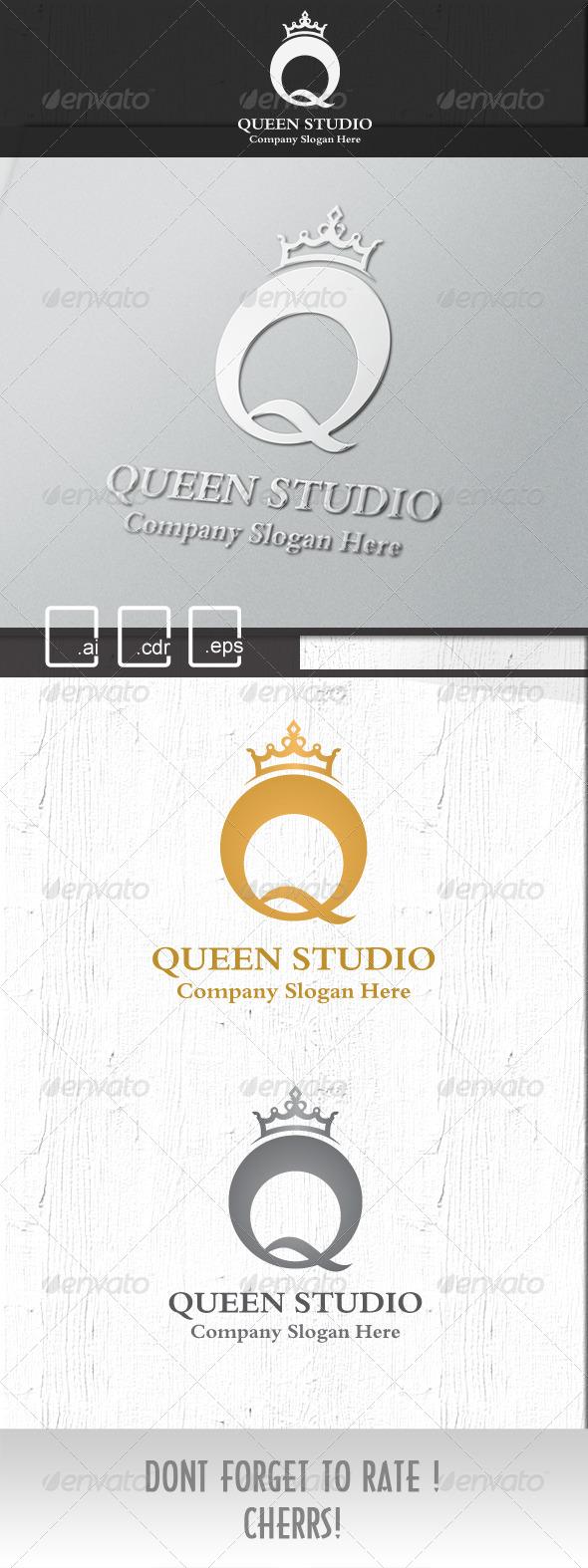 Queen Royal Studio logo - Crests Logo Templates