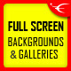 FullScreen Background / Gallery - Image and Video