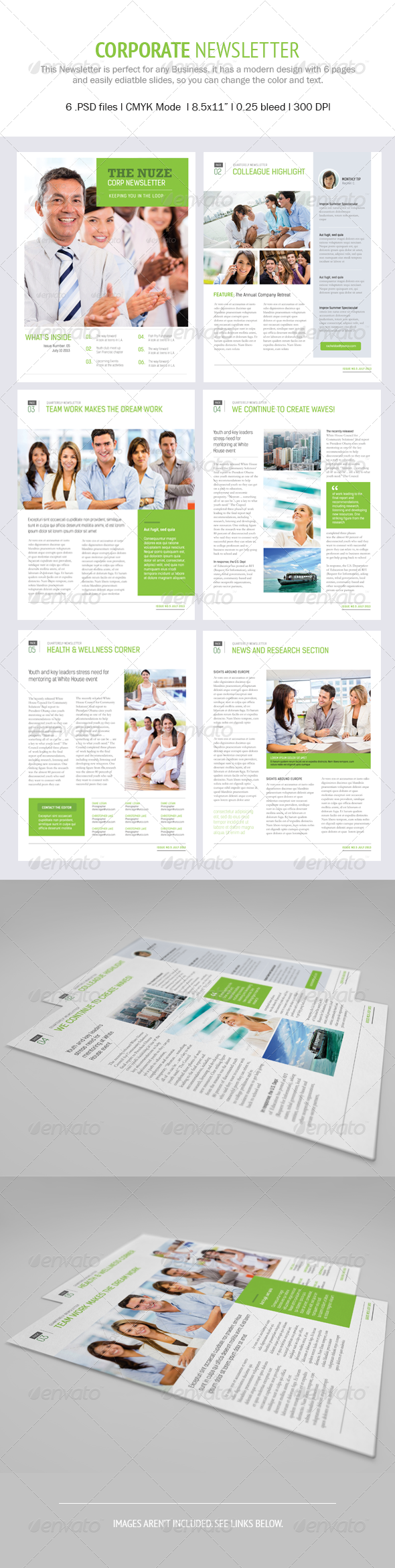 GraphicRiver Nuze Corporate Newsletter 5231611
