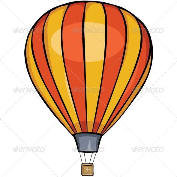 GraphicRiver Striped Air Balloon 5290918