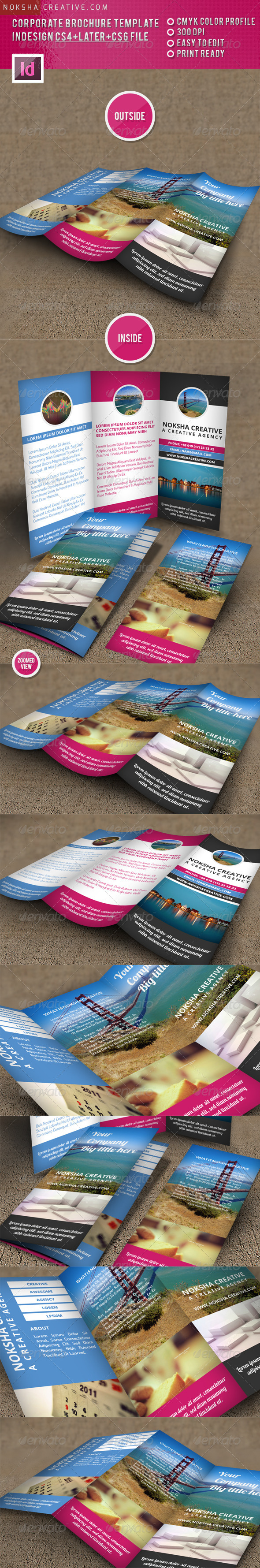 GraphicRiver Corporate TriFold Brochure Template V02 5291186