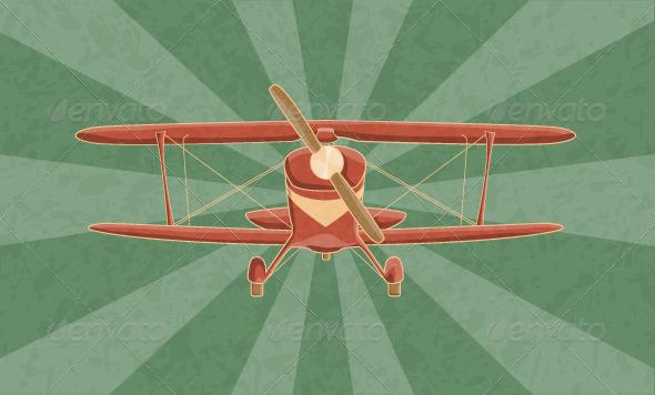 GraphicRiver Vintage Airplane 5281786