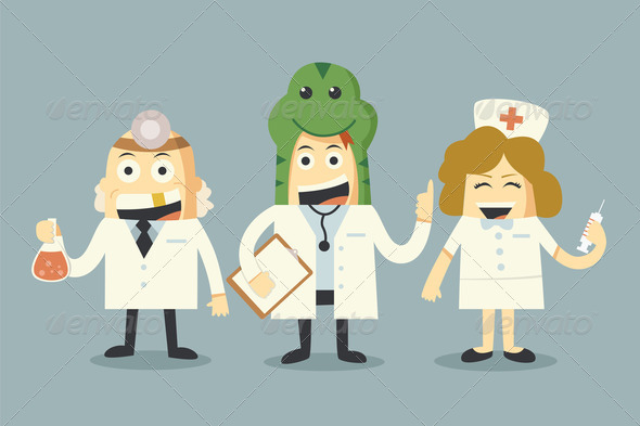 doctor and nurse team - Stock Photo - Images