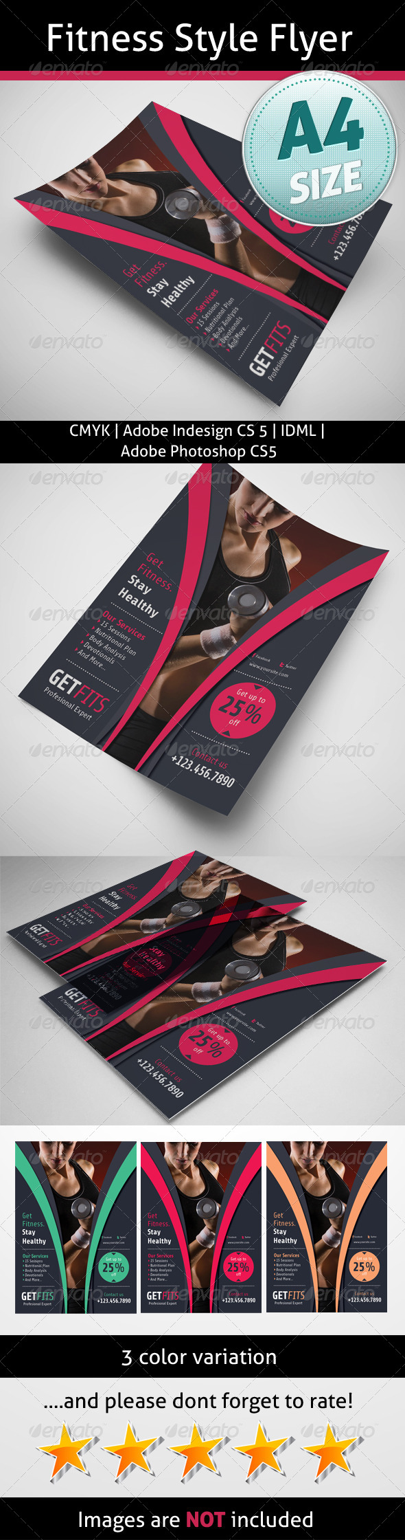 GraphicRiver Fitness Style Flyer 5237118