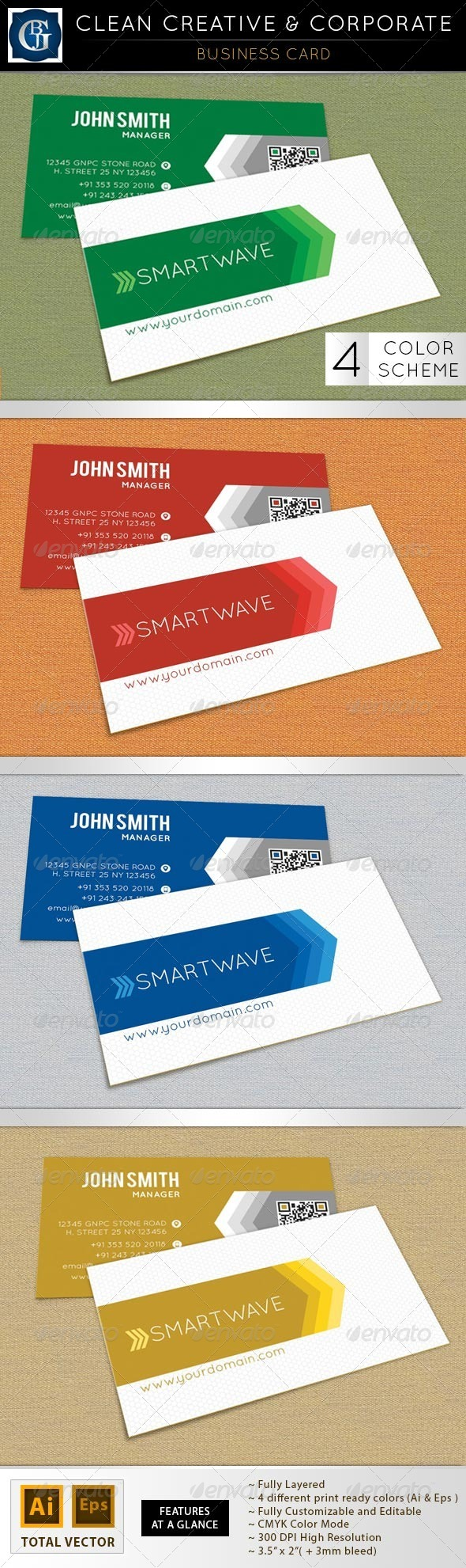 GraphicRiver Clean Creative & Corporate Business Card 5291902