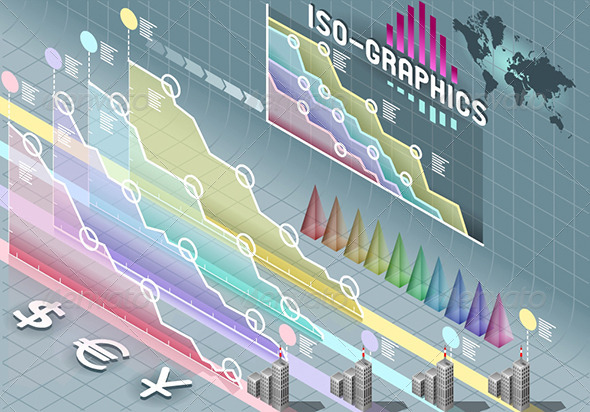 GraphicRiver Isometric Infographic Set Elements Transparency 5292031