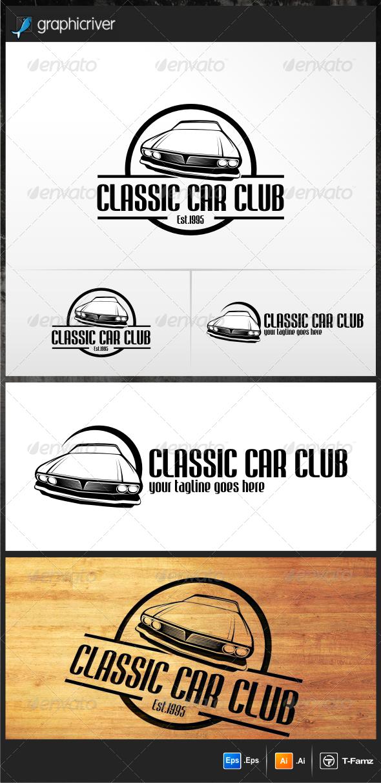 GraphicRiver Classic Car Club Logo Templates 5283141