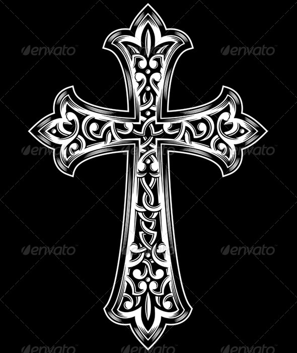 GraphicRiver Antique Christian Cross Vector 5292036