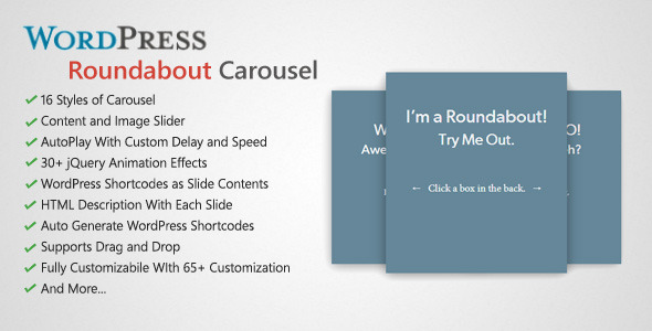 CodeCanyon Roundabout WordPress Carousel Slider Plugin 5292153