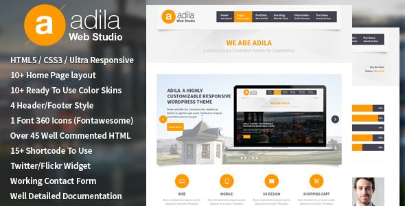 ThemeForest Adila Multipurpose Business HTML Theme 5289022