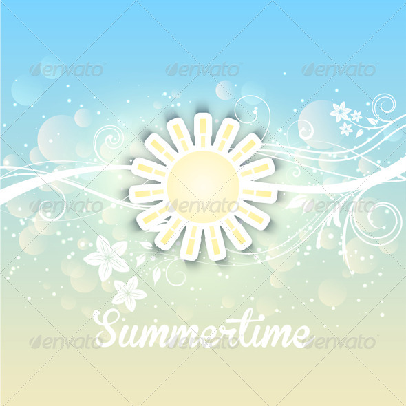 GraphicRiver Summer Background 5292389