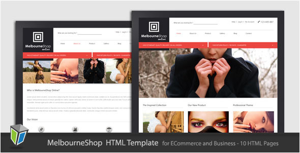 Themeforest - MelbourneShop - Business eCommerce HTML Template - RIP