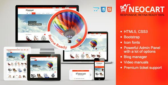 ThemeForest NeoCart Premium Responsive Retina OpenCart Theme 5292532