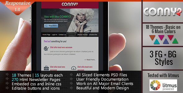 ThemeForest CONNY2 Responsive Email Template 5291185
