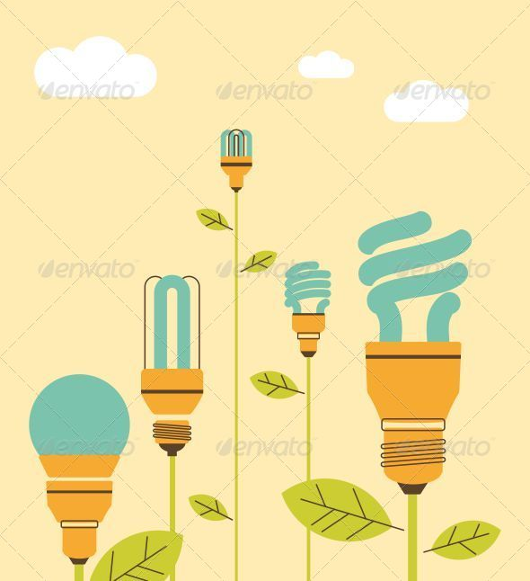 GraphicRiver Ecological Saving Lamp 5292806