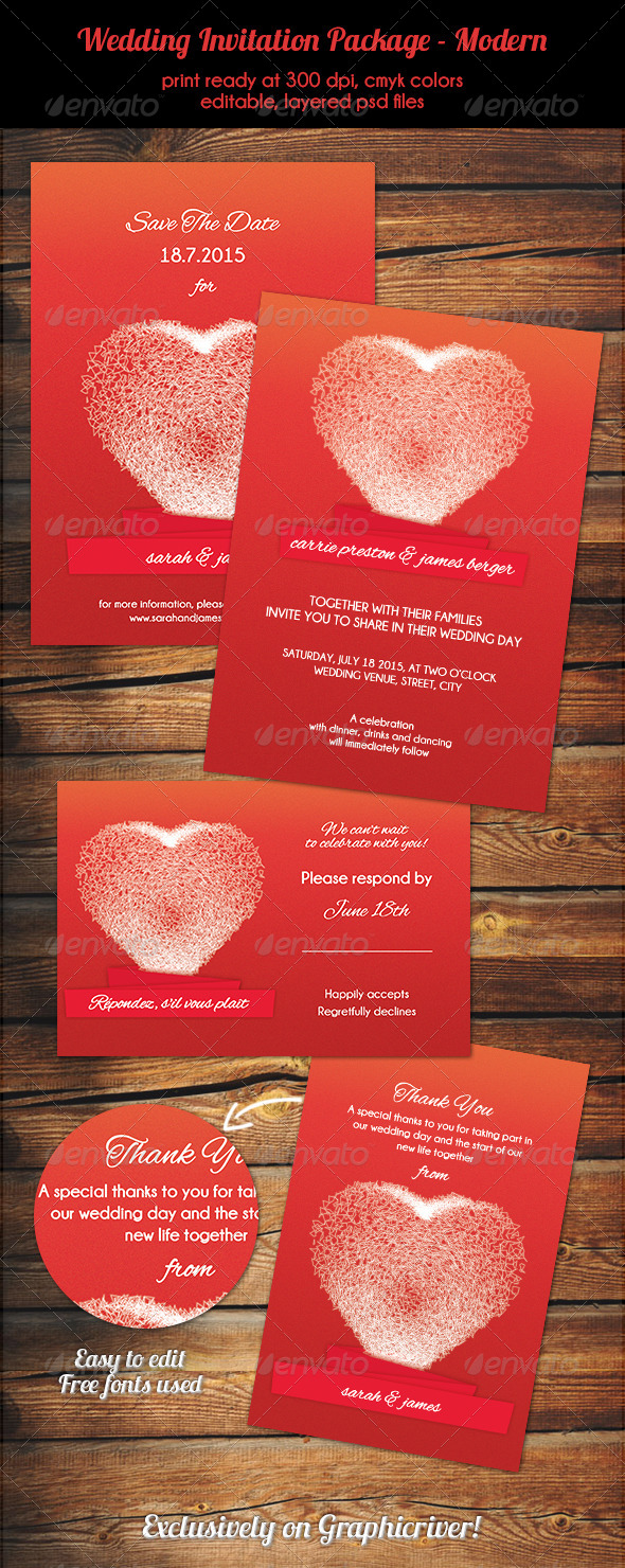 Wedding Invitation Package - Modern