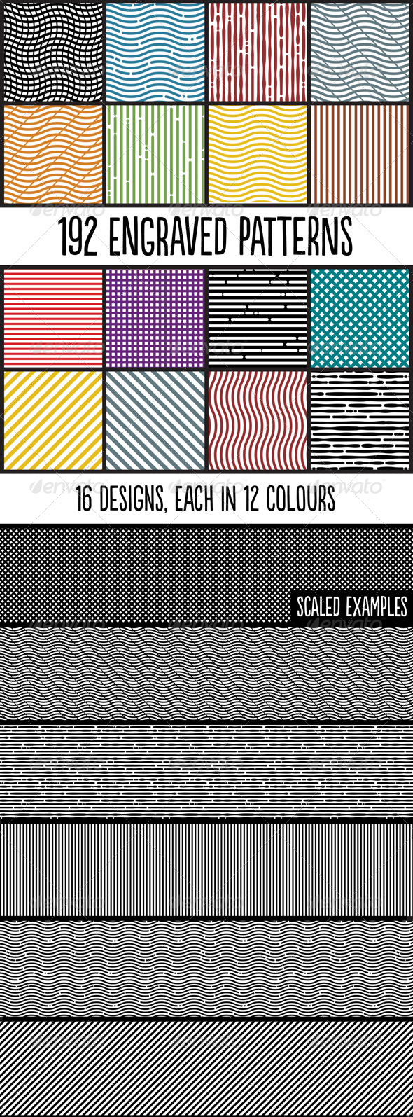 GraphicRiver Engraved Photoshop Patterns 5292883