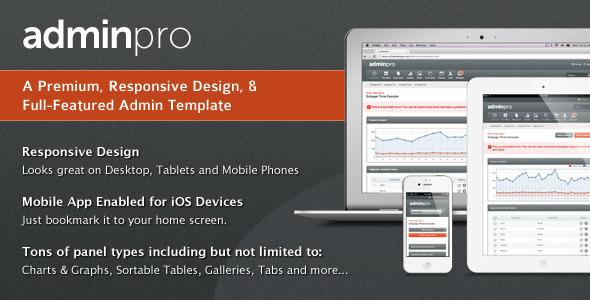 ThemeForest AdminPro Premium Responsive Admin Template 545104