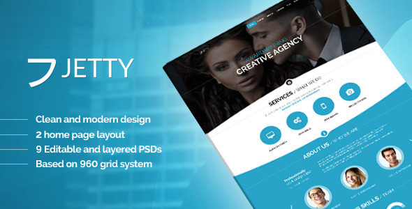 JETTY - PSD Template - Creative PSD Templates