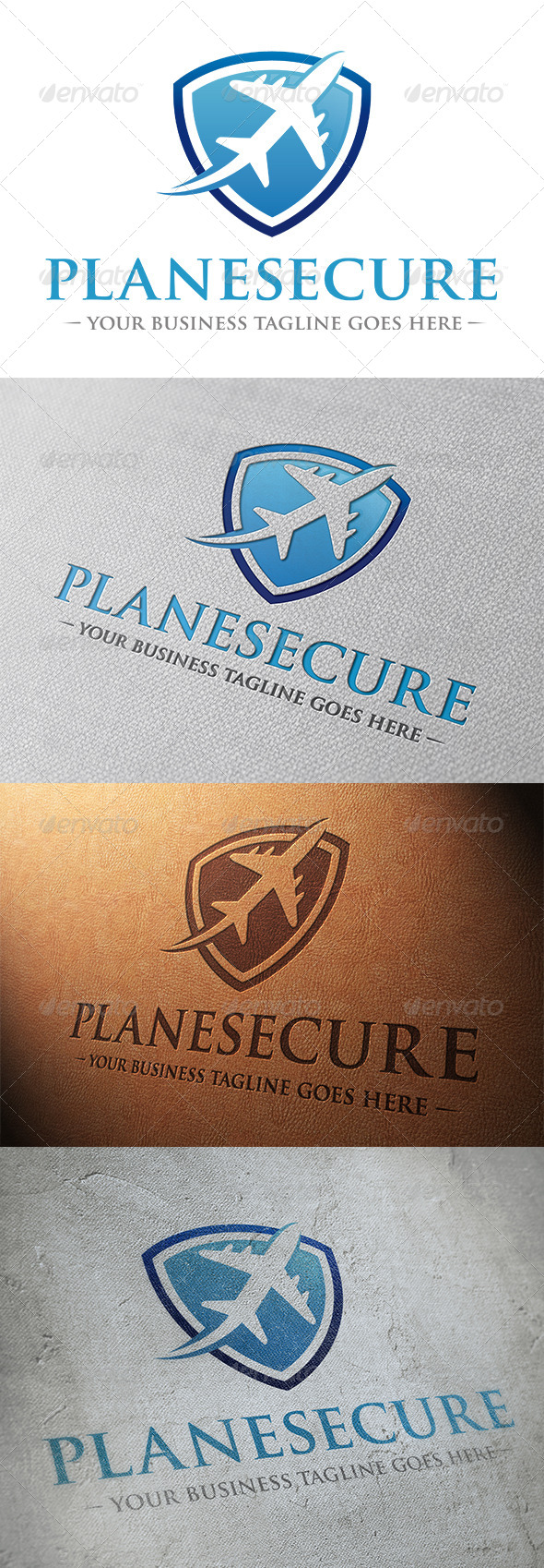 Plane Security Logo Template - Objects Logo Templates