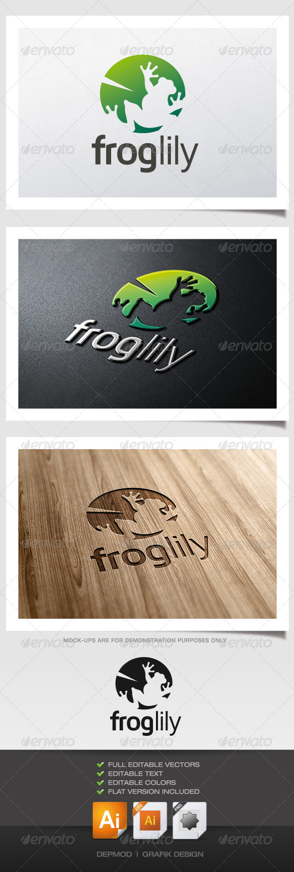 GraphicRiver Frog Lily Logo 5293331