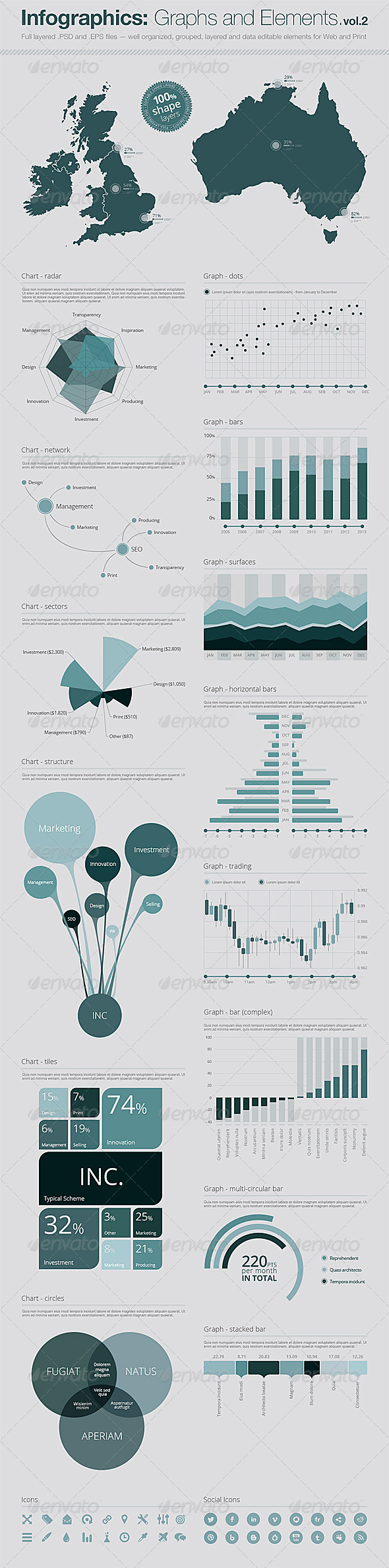 GraphicRiver Infographics Vector Graphs and Elements Vol.2 5269769