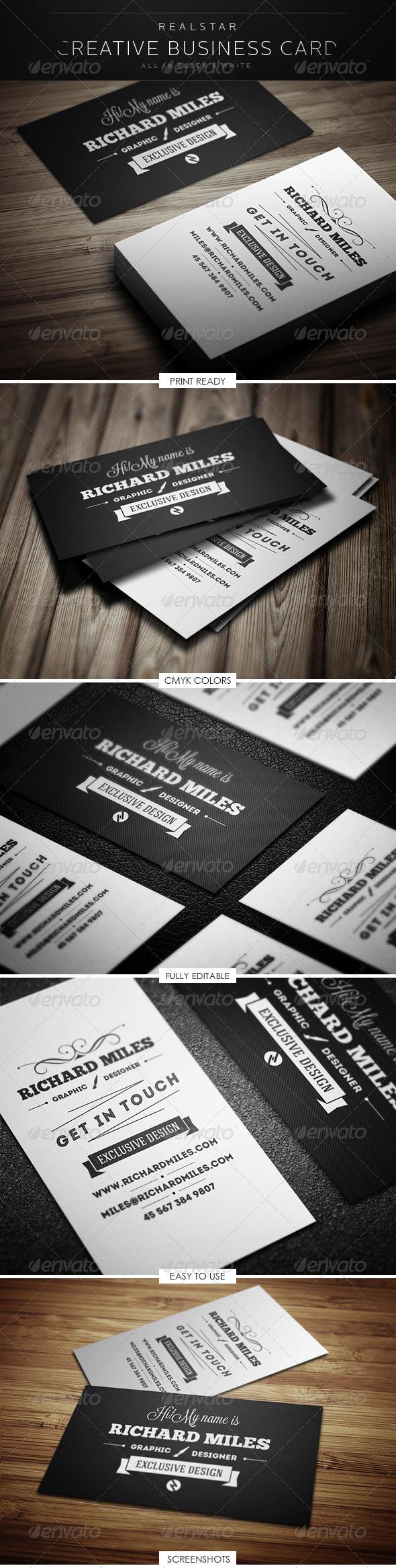GraphicRiver Retro Business Card 5293579