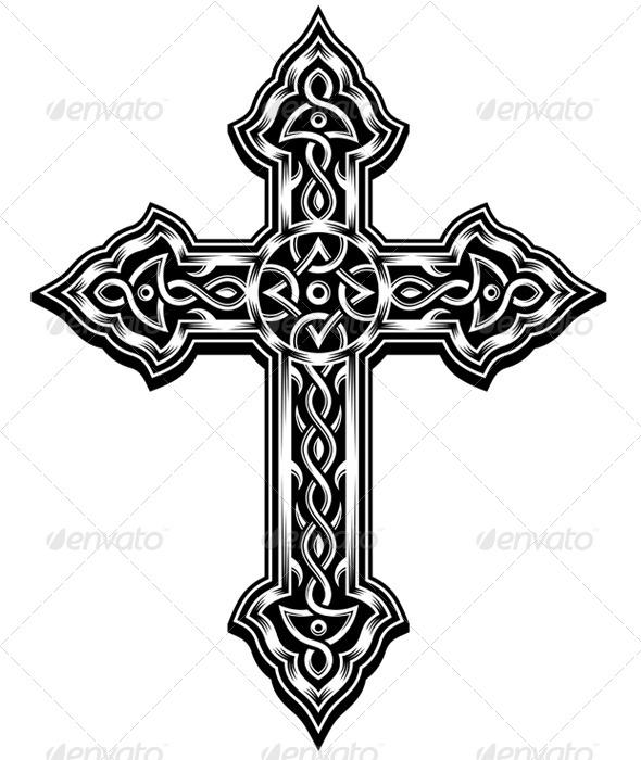 GraphicRiver Ornate Cross Vector 5293880