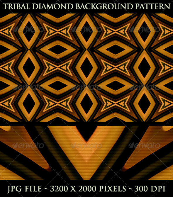 GraphicRiver Tribal Diamond Background Pattern 5294000