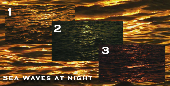 3 Sea Waves at Night