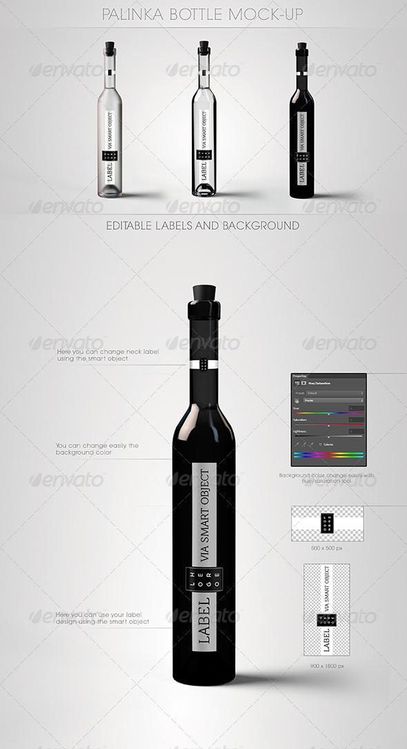 GraphicRiver Palinka Bottle Mock-Up 5294221